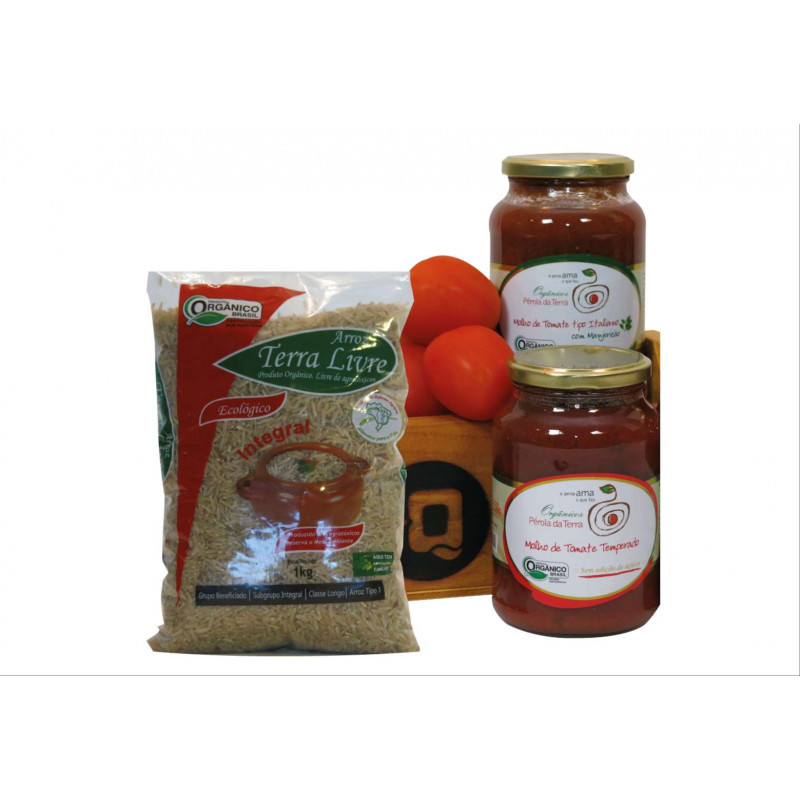 +Q Molho de Tomate e Arroz Integral Orgânico